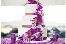 Radiant Orchid Wedding Ideas / Ideas for Radiant Orchid wedding themes, using the 2014 color of the year .