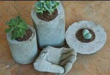 DIY Concrete Cement Yard Decorations / DIY projects using concrete, cement to make attractive outdoor yard decorations to your liking.