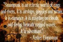 Deliciously Steampunk.  Clouds and Cogs and Adventure
