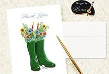Personalized Thank You Note Cards! / For sending personalized sentiments and greetings to friends and family.