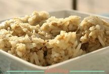 Rice Recipes / Recipes that either include some type of rice as an ingredient or that can be served over rice.