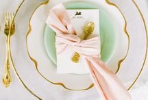 wedding inspiration || teal gold