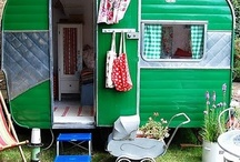 Campers/Trailers / Oh the possibilities with a cute trailer sitting in the backyard.