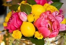 wedding inspiration || pink yellow