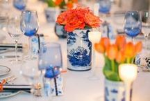 wedding inspiration || blue orange aqua / A blue, orange and aqua colour inspiration with a Middle Eastern twist for a wedding inspired by the sea and desert