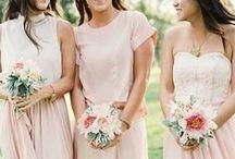 wedding || bridesmaids / Bridesmaid dresses and colours ideas