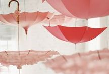 wedding || decor ideas / Fun, creative and elegant decoration ideas for weddings and parties || pom-poms, ribbons, lanterns, wall installations, chair decorations, hanging umbrellas, craft table numbers, balloons, chandeliers, oriental decorations, printed napkins, tea lights, painted candle sticks, glitter decorations