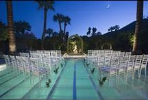 wedding || swimming pool ideas / Ideas on how to decorate or use a swimming pool for an pool party or wedding