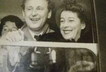 Bourvil  (1917-1970) et Jeanne Lefrique  (1918-1985) / De son vrai nom André Raimbourg Marié à Jeanne Lefrique de 1943 à 1970  Deux fils : Dominique et Philippe  Dominique Député et Philippe Professeur