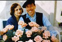 Fernandel  (1903-1971) et Henrielle Manse  (1902-1984) / De son vrai nom Fernand Contandin Marié à Henriette Manse (de 1925 à 1971) Trois enfants : Josette, Janine et Franck (1935-2011)  ( père de Vincent et de Manon)