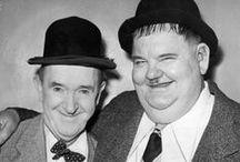 Stan Laurel  (1890-1965) et Oliver Hardy (1892-1957) / Duo de comédiens comiques trés célèbres