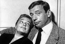 Simone Signoret  (1921-1985) / Deux mariages et un divorce : Yves Allegret (de 1944 à 1949) et Yves Montand (de 1951 à 1985) Une fille : Catherine (avec Yves Allegret)