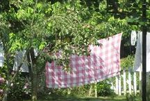 LAUNDRY & CLOTHESLINES / beautiful laundry, vintage clotheslines, lace, linens, tablecloths, mudrooms, more...