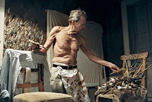 Lucian Freud at work / by Harry Kent