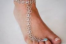 Maille ankle chains