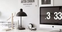 Home: Study, studio, work space / Inspirational work spaces; studio's, studies and reading corners.