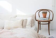 Home: White white white / Lots of interior ideas for white on white. Simple, chic, timeless.