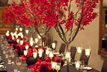 """Paint Raleigh Red"" Dinner Party / Virtue's Client, who we lovingly refer to as ""Lisa Lisa (without the cult jam)"" has asked us to design a dinner party for her that is fun, interactive, and leaves a lasting impression with her guests."