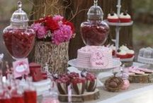Sweet Party Time / A party should be a sweet, and memorable gathering. It's often the little touches and the work we put in before hand that makes it a special experience from the minute guests walk in door. Here are a few ideas to make your next party special.