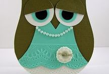Cards - Owl Punch / Cards & Crafts using  the Stampin' Up Owl Punch