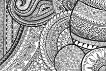 Art - Doodling & Tangling / Doodling and Zentangle (or Tangling, if you will) / by Nanette Edmonds