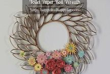Wreaths I Want to Make / I have a thing for wreaths, I just love them!  My front door is a set of double doors and I love to make unique wreaths sets to go on these doors for each season.  These are my collection of really awesome wreaths that I want to make some day!