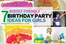 Kid Birthday Party Ideas / Fun, festive, frugal and unique kid birthday party ideas for all kids, and all ages!