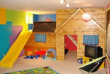 Kids Play Room Decor / The ultimate playroom for your kids does exist!  Great ideas on how to transform your extra room into an awesome play room for your children!
