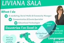 My Resume / I am Liviana Sala, an Italian professional with a master's degree in Technologies-enhanced Communication for Cultural Heritage from Università della Svizzera Italiana. I am trilingual (fluent in English and French), with significant international experience in the field of communication and ICTs for Higher Education and Cultural Institutions.  Check out my infographic, visit my Linkedin Profile & contact me!  I am always looking for new professional insights,  networking and other opportunities!