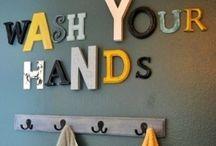 Kids Bathroom Decor Ideas / Decor for ideas for the kids' bathroom.