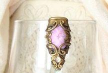 Handmade polymer clay jewelry / Http://Sararmoniasara.etsy.com