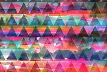 PATTERN {triangles} / triangle pattern inspiration / by NALU TRIBE
