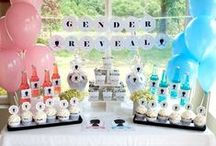 Gender Reveal Baby Shower / Gender reveal baby shower.  Is it a boy or girl?  Use these ideas to have the best gender reveal baby shower. / by Modern Baby Shower Ideas
