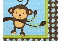 Monkey themed baby shower decorations / Monkey themed baby shower decorations / by Modern Baby Shower Ideas