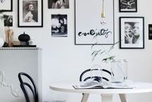 Black and White / Ideas, inspiration and top tips for using black and white in your home decor.