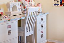 Sewing room ideas / by m yezek