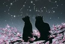 Meow, miaou, miau... / Russian blue cats, British cats, gray cats, kittens, therapy cats, cat illustrations and more...