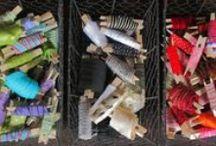 Organizing / Organizing craft supplies.