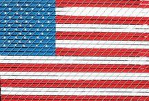 Red, White & Blue / For July 4th, Memorial Day, Veterans Day... or any time you feel like celebrating your American patriotism. We have tons of DIY and craft ideas and products to make your red, white and blue holiday something special.