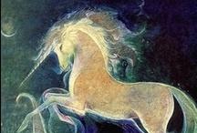 Unicorns!  / Fantasy unicorn art / by Sonia Soma
