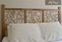 DIY Headboards / We fun and creative ideas for creating unique headboards.