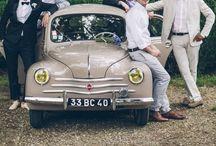 VOITURE DES MARIÉS // JUST MARRIED / Inspirations Voiture des mariés http://www.leblogdemadamec.fr