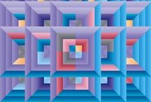 Moderne Quilt Muster