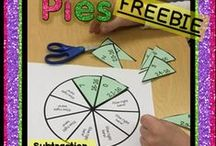 Puzzle Pies for Math Facts Centers / Interactive Math Centers that emphasize math facts with single digit addition, single digit subtraction, and single digit multiplication.