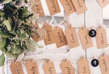 Escort Cards / Please be seated! Wedding escort cards to fit any wedding style.