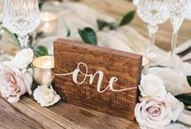 Wedding Table Numbers / Unique wedding table number decor ideas.