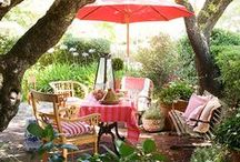 Garden | Outdoor Living Rooms ♥
