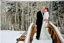 Winter Weddings / When you live in Colorado, a winter wedding can be anywhere from October through April!  We love the cozy romance the snow provides our couples on their special day!