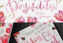 Calligraphy & Branding / calligraphy fonts we feel inspired by