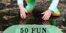 Activities with kids / Creative Activities to do with kids ~ art projects, games, family fun, crafts, imagination building play, outdoor activities, indoor activities